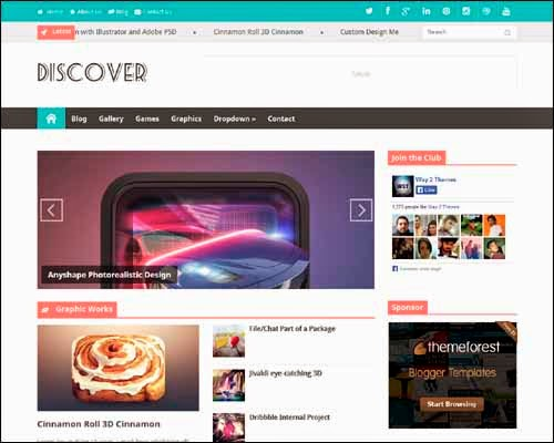 Discover free blogger template