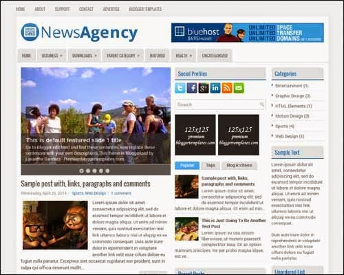 NewsAgency Blogger template