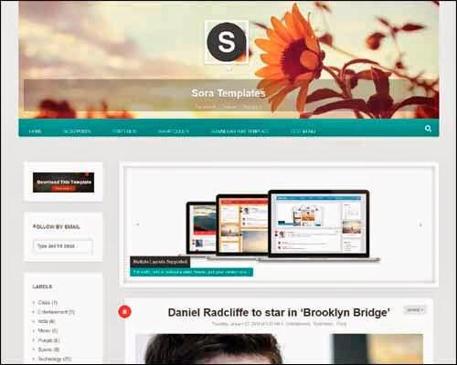 Profillia free blogger template