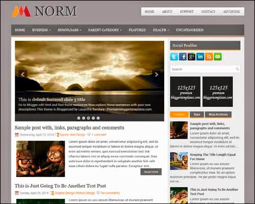 Norm Blogger Template