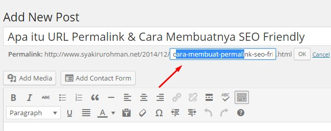 Custom Permalink di wordpress