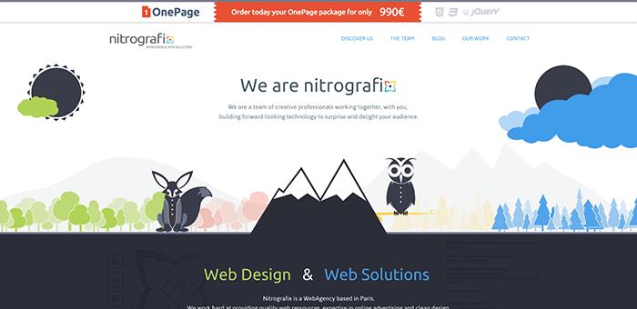 Desain web flat Nitrografix