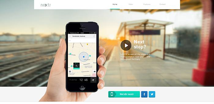 Nextr web design style