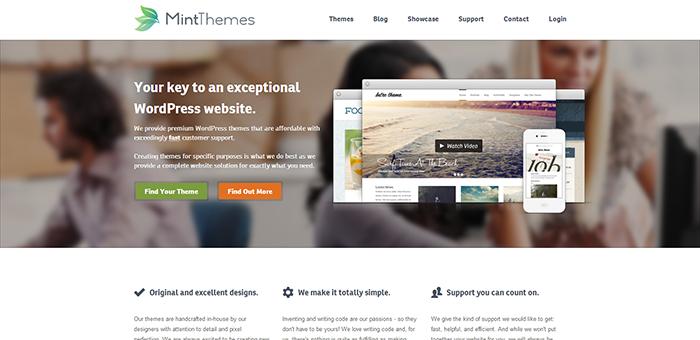 Mint themes - Contoh Desain Web Keren Landing Page