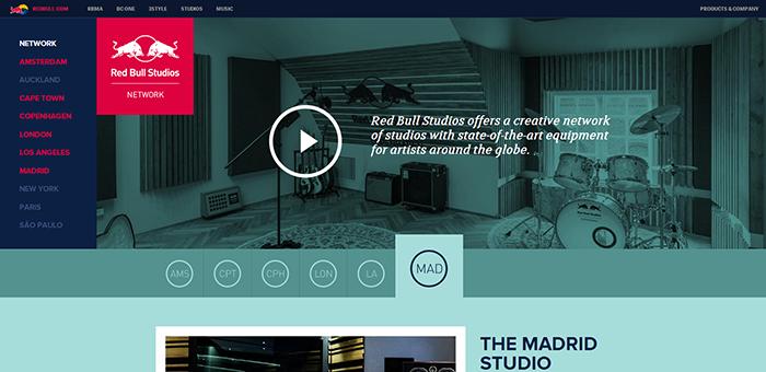 RedBull Studio - Contoh Desain Web Keren Landing Page