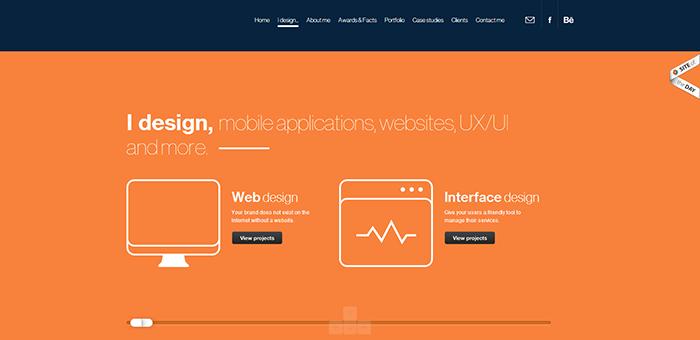 Adam Rudzki web design - Contoh Desain Web Keren Landing Page