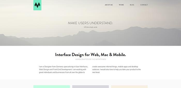 ivomynttinen - Contoh Desain Web Keren Landing Page