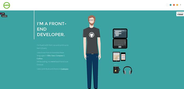 Sammarkiewi - Contoh Desain Web Keren Landing Page