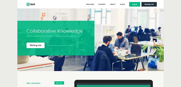 Teamsort - Contoh Desain Web Keren Landing Page