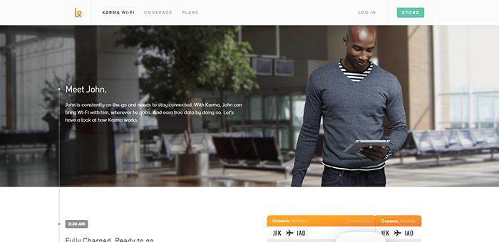 Your Karma Web Design - Contoh Desain Web Keren Landing Page
