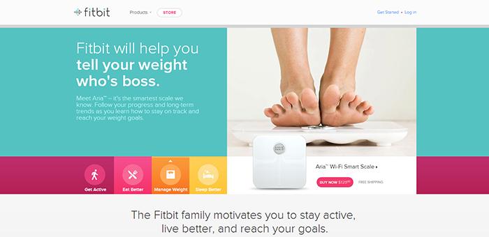 Fitbit - Contoh Desain Web Keren Landing Page
