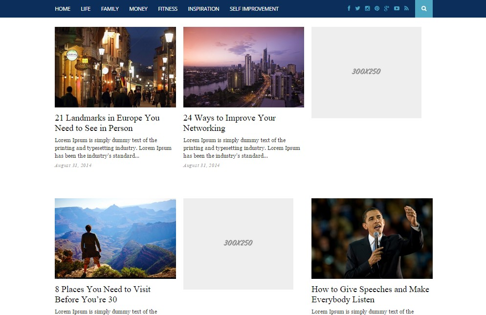 UnoBlog Grid Wp Theme