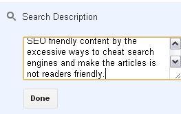 post search description