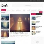 layla magazine blogger template