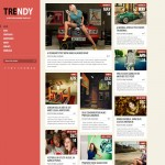 trendy red blogger template