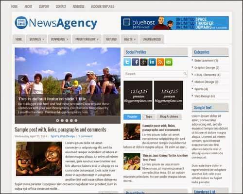 NewsAgency Blogger template