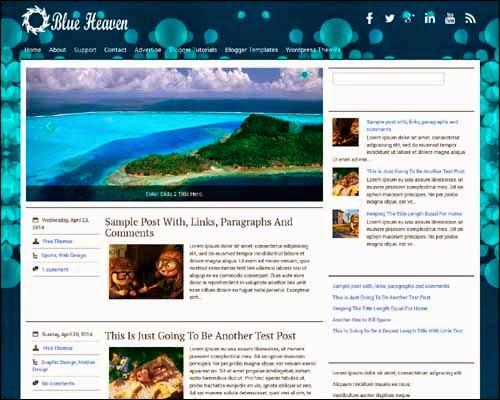 Blueheaven Blogger template