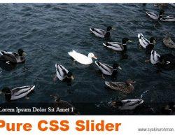 Slider dengan CSS Murni