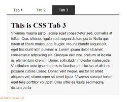 Tab Menu CSS
