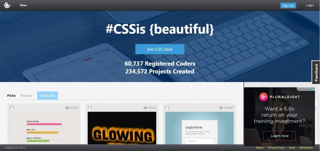 CSS Deck