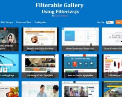 Screenshot Filterable Gallery