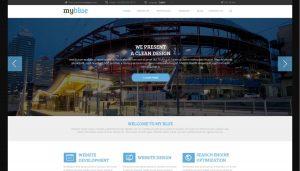 Myblue PSD Website Template