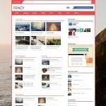 fency magazine blogger template