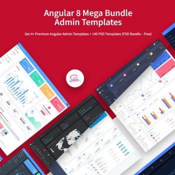 Angular 8 Mega Bundle Admin Templates