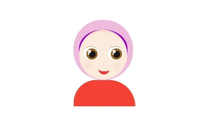 CSS Drawing Hijabi Girl