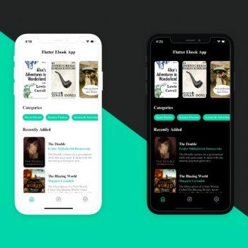 Flutter ebook App UI Kit