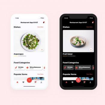 Restaurant app UI kit