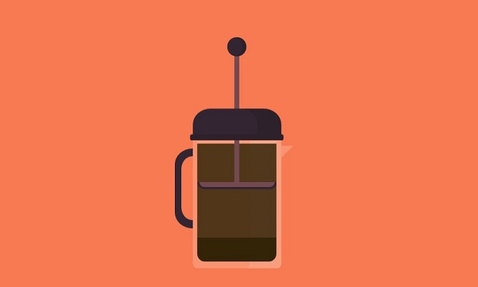 Pure CSS responsive French press