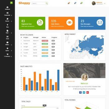 Shoppy Ecommerce admin template