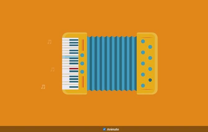 Single div accordion animated