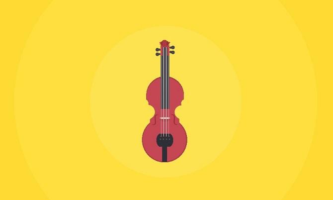 Single div violin