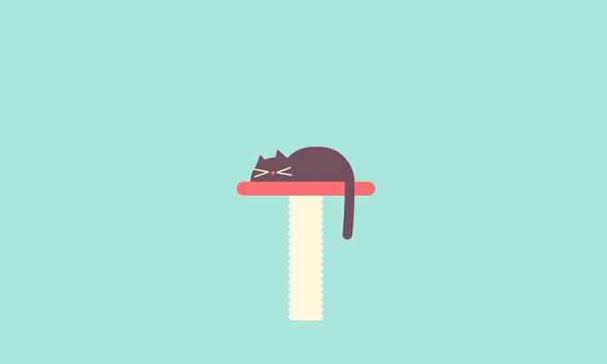 Sleeping cat css drawing
