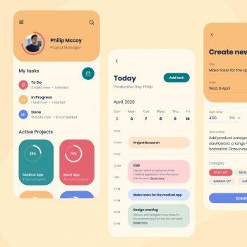 Task planner App UI kit