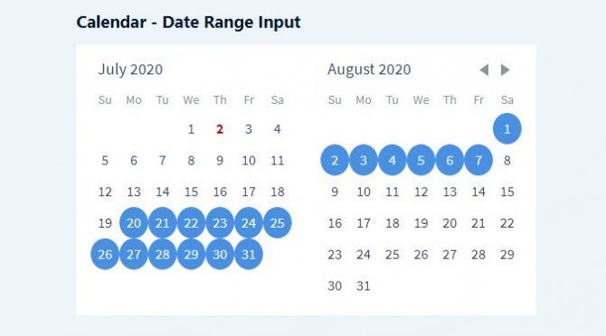 calendar date range