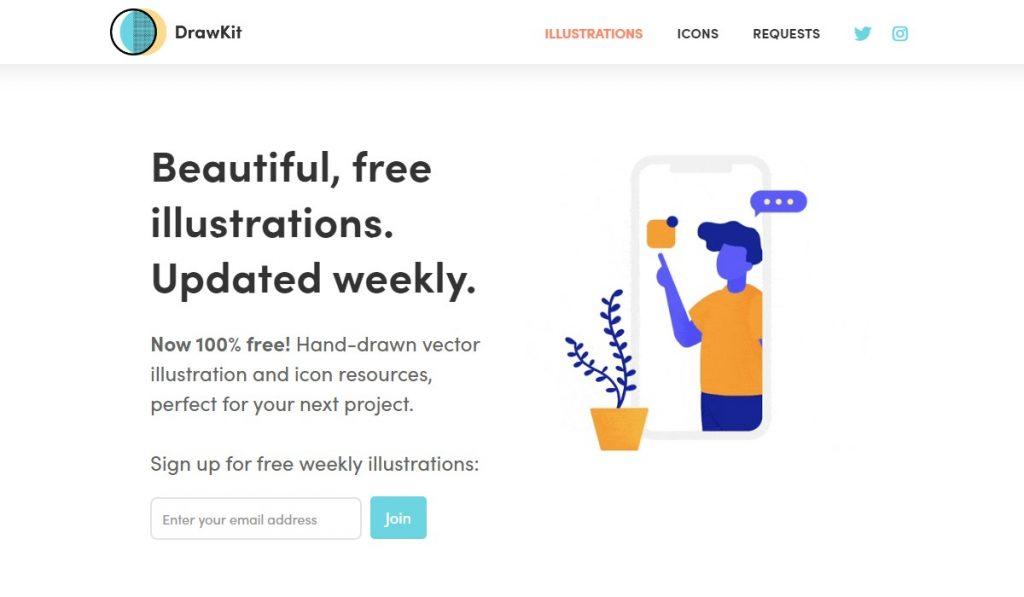 DrawKit - free illustrations