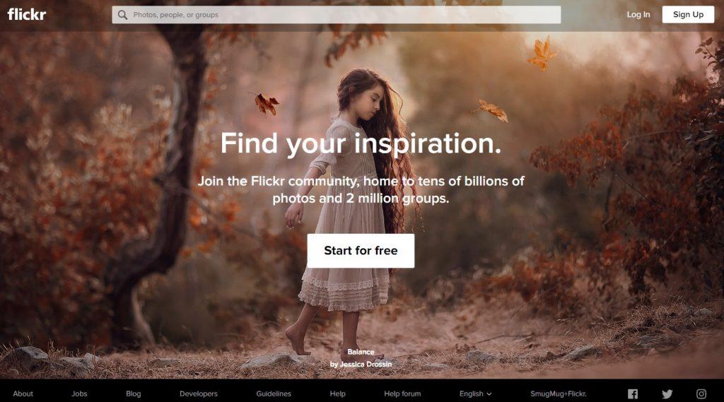 Flickr- photo sharing website