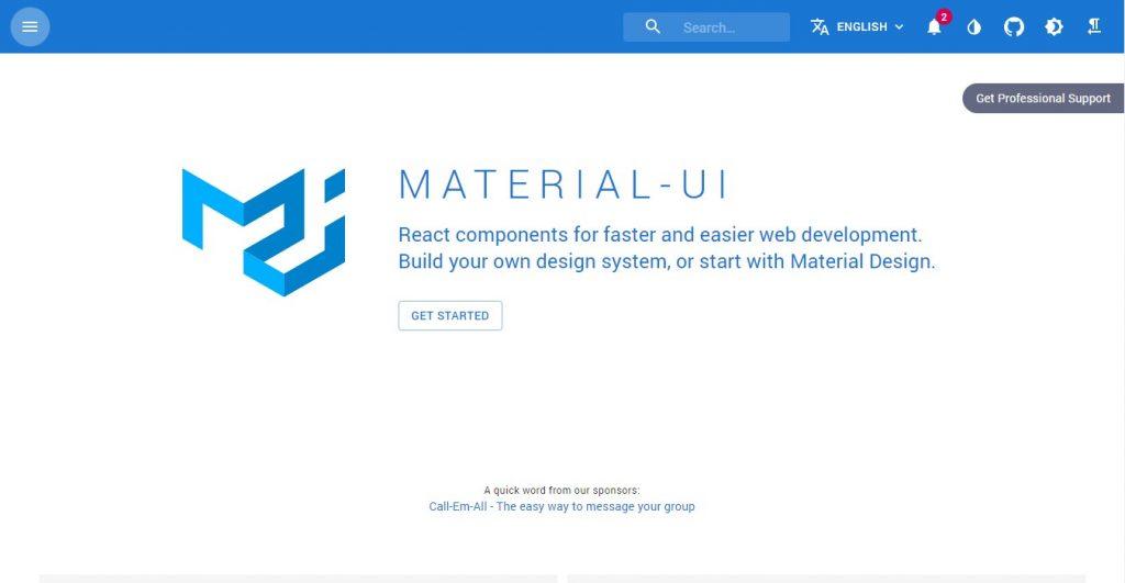 Material UI - Most popular React UI Framework