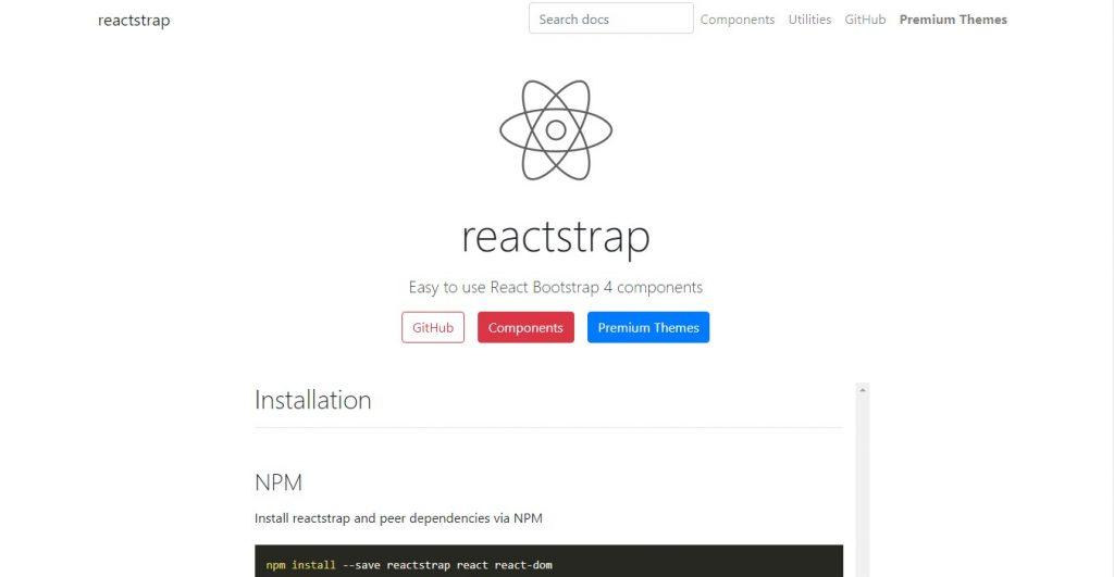 Reactstrap - Based on popular Bootstrap framework