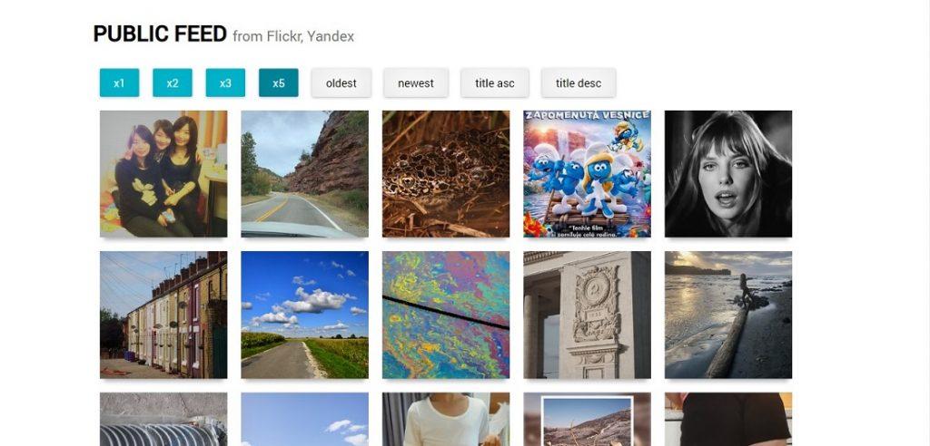 React Photo Feed - Flickr & Yandex